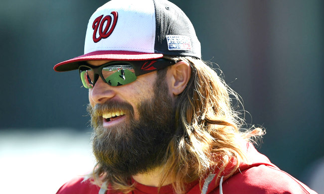 Jayson Werth a définitivement une barbe de baseball d&#39;un gagnant &quot;width =&quot; 650 &quot;height =&quot; 390 &quot;/&gt;    <figcaption class=