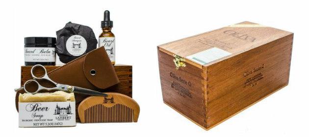 kit de barbe ultime cadeau de cheveux pour hommes &quot;width =&quot; 630 &quot;height =&quot; 280 &quot;/&gt; </p> <p> <strong> Le kit ultime de la barbe de Maison Lambert </strong> est livré avec tous les produits de soins de barbe biologiques 100% organiques de haute qualité, ainsi qu&#39;une caisse à cigares en bois à la main pour les ranger. C&#39;est probablement la plus belle et la plus belle barbe Un cadeau apparenté qu&#39;un homme peut obtenir. La boîte contient des ciseaux, un peigne de barbe, une huile de barbe organique, un baume de barbe organique, un shampooing à la barbe organique et un savon pour le corps qui a un parfum de bière. Tout est 100% organique et fait à partir d&#39;ingrédients naturels, de sorte que vous ne devez pas vous soucier d&#39;endommager la barbe avec des produits chimiques inutiles. </p> <p> <strong> Où acheter: <span style=