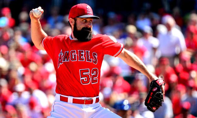 """Le cordonnier matt est un joueur de baseball avec les cheveux du visage """"width ="""" 650 """"height ="""" 390 """"/>    <figcaption class="""