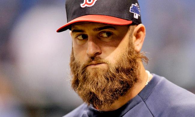 "barbe de baseball mike napoli en mlb ""width ="" 650 ""height ="" 390 ""/>    <figcaption class="