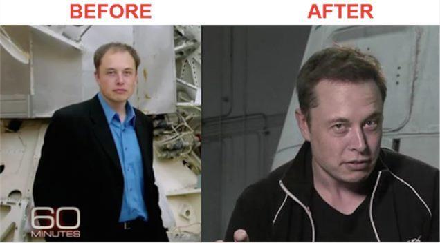 Elon musc photo, jeune chauve