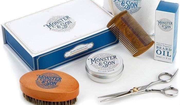 """kit de démarrage pour soin de la barbe des monstres et fils """"width ="""" 700 """"height ="""" 410 """"srcset ="""" https://beardresource.com/wp-content/uploads/2019/01/monster-and-son-beard-care-starter -kit.jpg 700w, https://beardresource.com/wp-content/uploads/2019/01/monster-and-son-beard-care-starter-kit-300x176.jpg 300w, https://beardresource.com /wp-content/uploads/2019/01/monster-and-son-beard-care-starter-kit-696x408.jpg 696w """"values ="""" (largeur maximale: 700px) 100vw, 700px"""