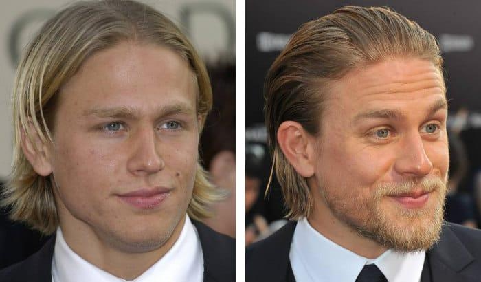 barbe de charlie hunnam vs pas de barbe