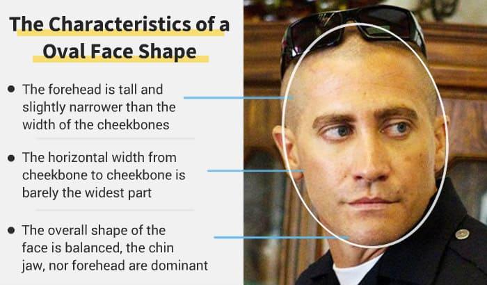 caractéristiques de forme de visage ovale