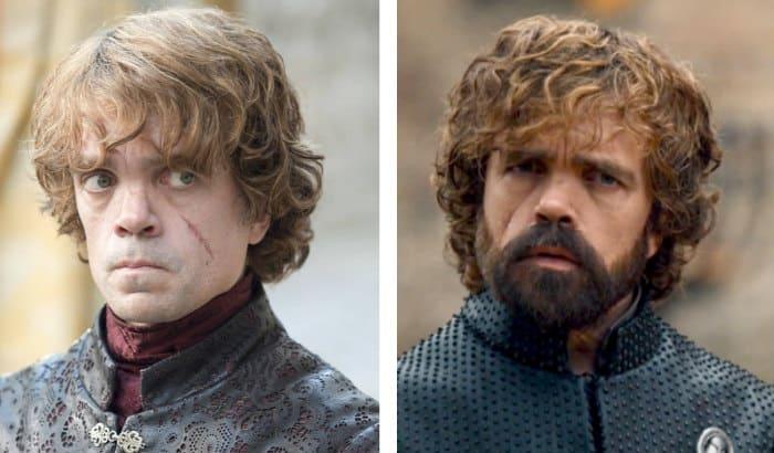 tyrion lannister barbe vs pas de barbe