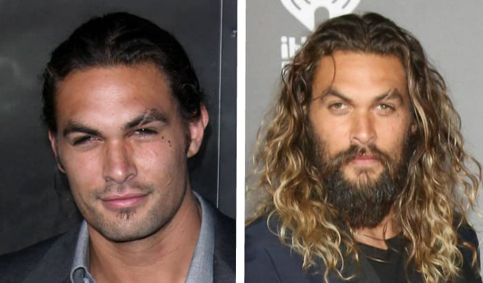 jason momoa barbe vs pas de barbe